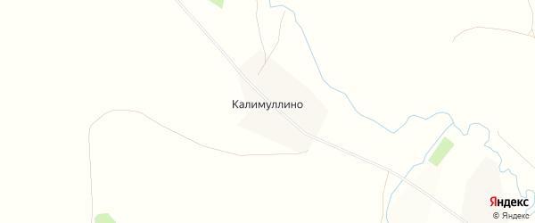 Карта деревни Калимуллино в Башкортостане с улицами и номерами домов