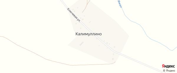 Ключевая улица на карте деревни Калимуллино с номерами домов