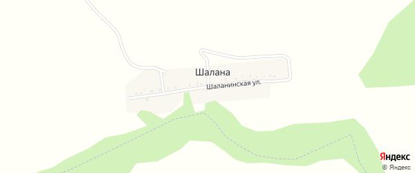 Шаланинская улица на карте деревни Шаланы с номерами домов