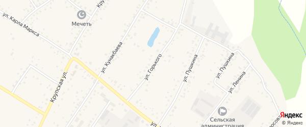 Улица Горького на карте деревни Улукулево с номерами домов