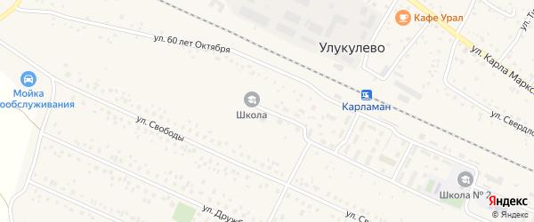 Улица 60 лет Октября на карте деревни Улукулево с номерами домов