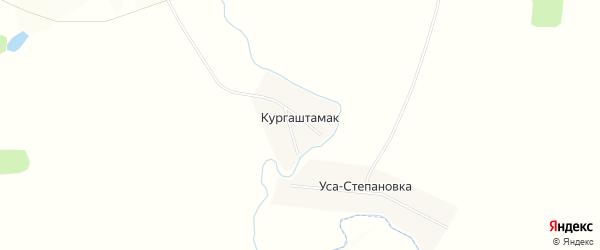 Карта деревни Кургаштамака в Башкортостане с улицами и номерами домов
