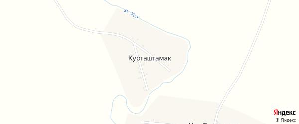 Улица Байрушина на карте деревни Кургаштамака с номерами домов