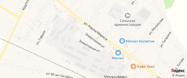 Элеваторная улица на карте деревни Улукулево с номерами домов