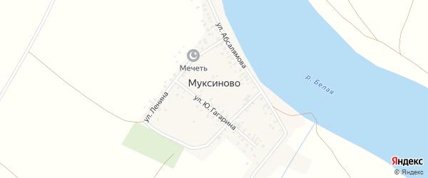 Улица Фрунзе на карте деревни Муксиново с номерами домов