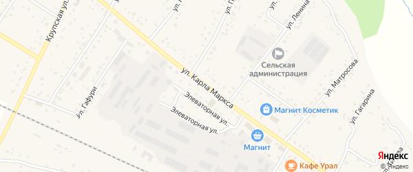 Улица К.Маркса на карте деревни Улукулево с номерами домов