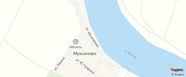 Улица Абсалямова на карте деревни Муксиново с номерами домов