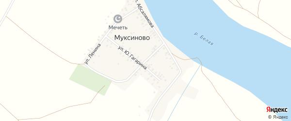 Улица М.Гафури на карте деревни Муксиново с номерами домов