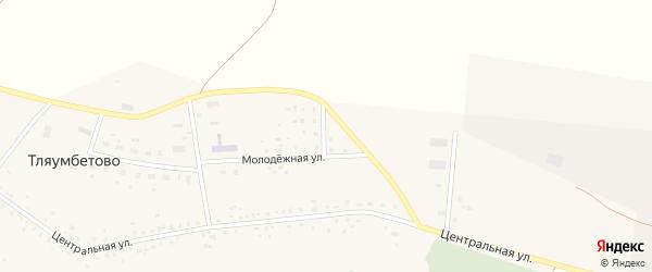 Горная улица на карте деревни Тляумбетово с номерами домов