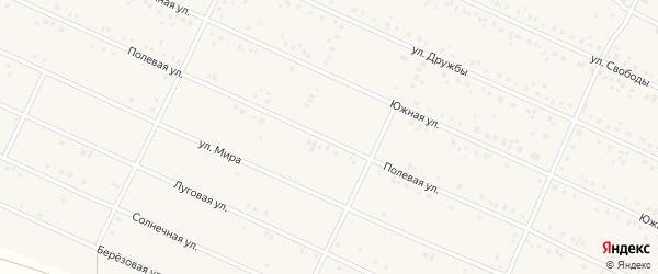 Полевая улица на карте деревни Улукулево с номерами домов