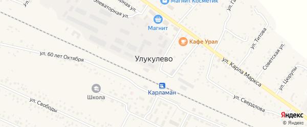 Улица Мира на карте деревни Улукулево с номерами домов