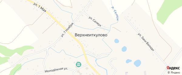 Улица Дружбы на карте села Верхнеиткулово с номерами домов