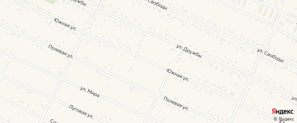 Южная улица на карте деревни Улукулево с номерами домов
