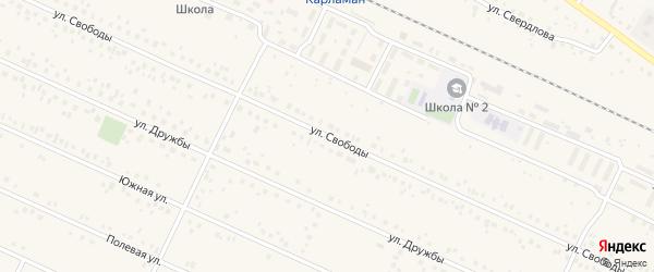 Улица Свободы на карте деревни Улукулево с номерами домов