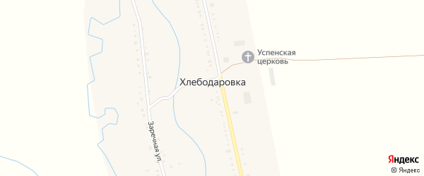 Центральная улица на карте села Хлебодаровки с номерами домов