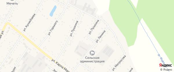 Улица Пушкина на карте деревни Улукулево с номерами домов