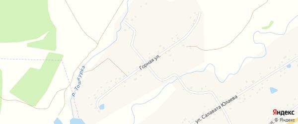 Горная улица на карте села Кигазы с номерами домов