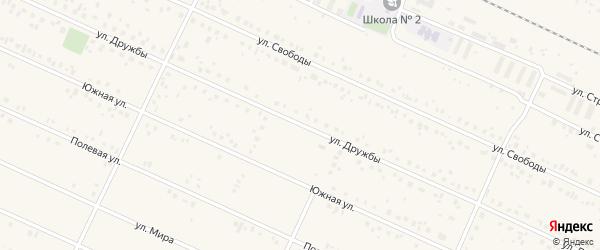 Улица Дружбы на карте деревни Улукулево с номерами домов