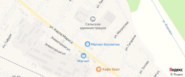 Улица Вильданова на карте деревни Улукулево с номерами домов