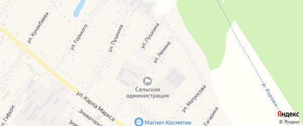 Улица Ленина на карте деревни Улукулево с номерами домов