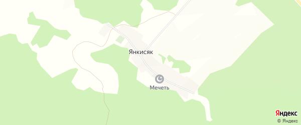 Карта деревни Янкисяка в Башкортостане с улицами и номерами домов