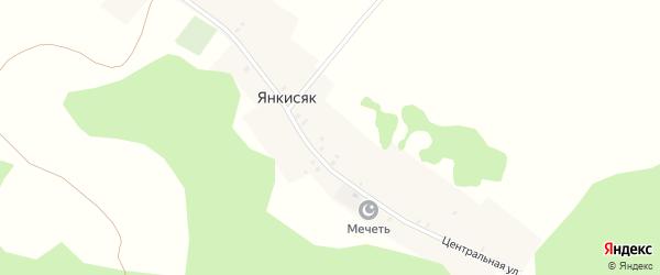 Центральная улица на карте деревни Янкисяка с номерами домов