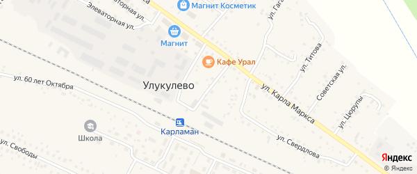 Улица Фрунзе на карте деревни Улукулево с номерами домов