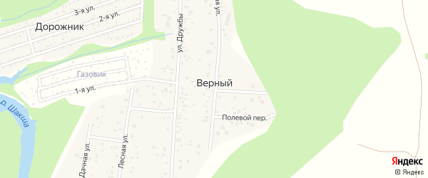 Улица Бажова на карте деревни Верного с номерами домов