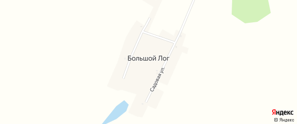 Садовая улица на карте деревни Большого Лога с номерами домов
