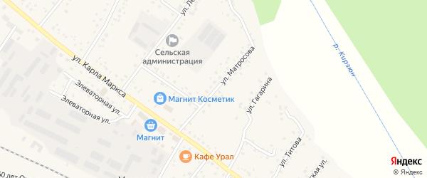 Улица Матросова на карте деревни Улукулево с номерами домов