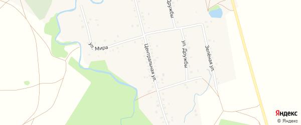 Центральная улица на карте села Верхнеиткулово с номерами домов