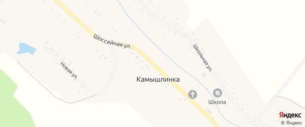 Шоссейная улица на карте села Камышлинки с номерами домов