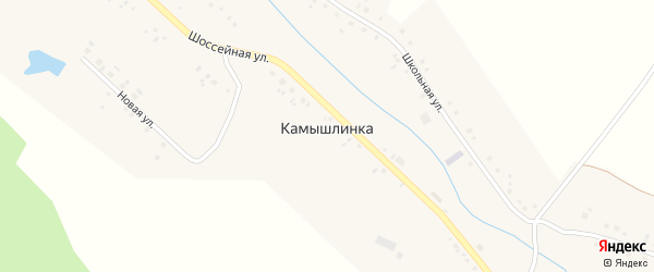 Лесная улица на карте села Камышлинки с номерами домов