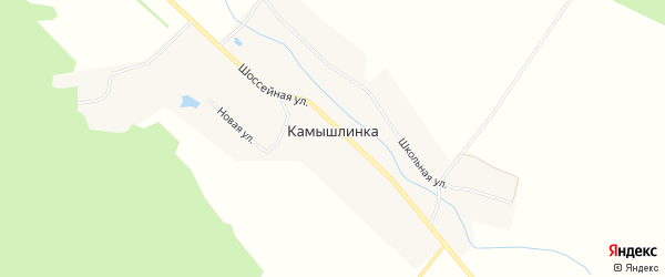 Карта села Камышлинки в Башкортостане с улицами и номерами домов