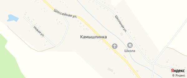 Школьная улица на карте села Камышлинки с номерами домов