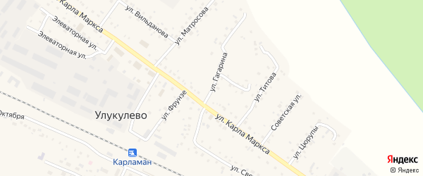 Улица Гагарина на карте деревни Улукулево с номерами домов