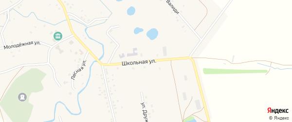 Школьная улица на карте села Верхнеиткулово с номерами домов