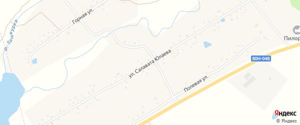 Улица Салавата Юлаева на карте села Кигазы с номерами домов