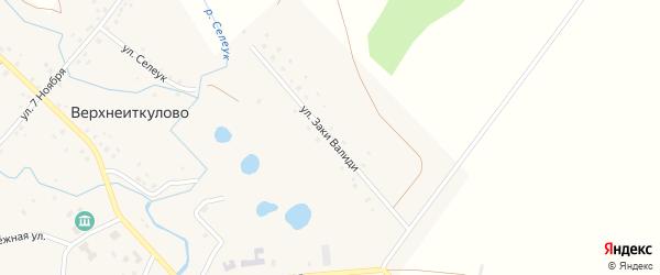 Молодежная улица на карте села Верхнеиткулово с номерами домов
