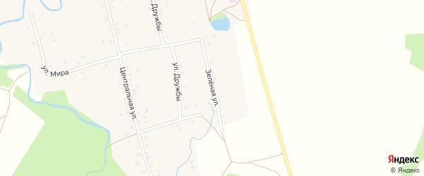 Зеленая улица на карте села Верхнеиткулово с номерами домов