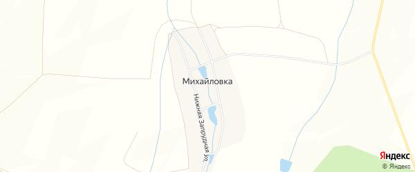 Карта деревни Михайловки в Башкортостане с улицами и номерами домов