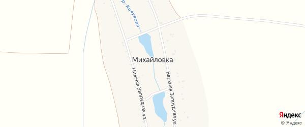 Нижняя Запрудная улица на карте деревни Михайловки с номерами домов
