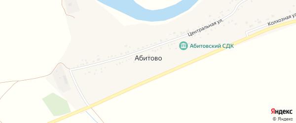 Центральная улица на карте деревни Абитово с номерами домов
