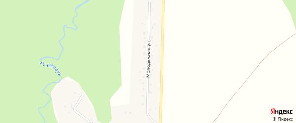 Молодёжная улица на карте деревни Уразбаево с номерами домов