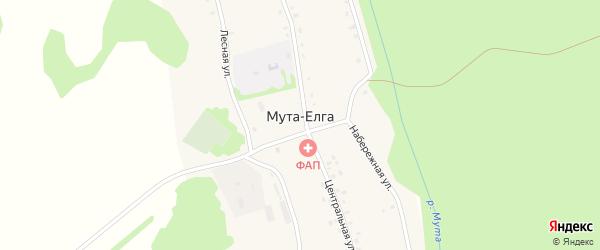 Новая улица на карте деревни Муты-Елги с номерами домов