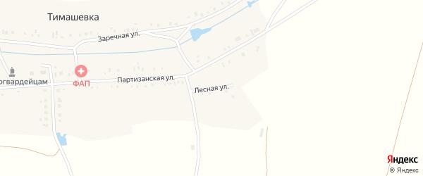 Лесная улица на карте деревни Тимашевки с номерами домов