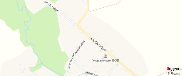 Улица Октября на карте деревни Уразбаево с номерами домов