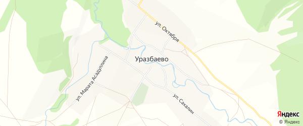 Карта деревни Уразбаево в Башкортостане с улицами и номерами домов