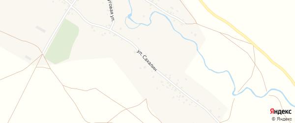 Улица Сахалин на карте деревни Уразбаево с номерами домов