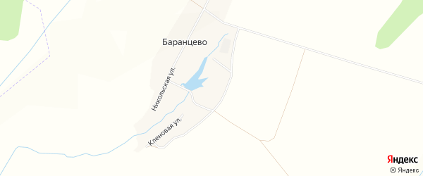 Карта деревни Баранцево в Башкортостане с улицами и номерами домов